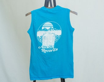 Vintage Small 80's Austin Records/The Shake Russell Band Tour Tank Top