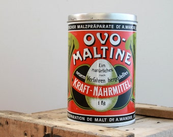 Large metal Ovomaltine - TBE Vintage box
