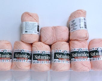 Vintage Lily Cotton Yarn All Natural Dyes 100% Cotton Naturalee 4 Ply Sport Weight Orange Cotton Bundle of Yarn for Knitting & Crochet