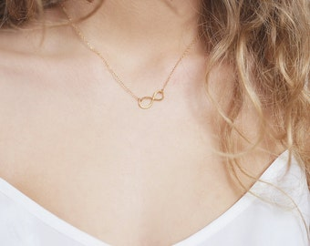 Infinite Sterling Silver 14k Gold Filled Necklace Infinite / Necklace Minimalist and Delicate / Everyday Necklace