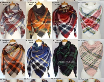 gift for women, plaid BLANKET scarf, plaid tartan scarf, best friend gift, plaid scarf, christmas gifts, blanket scarves, checked scarf