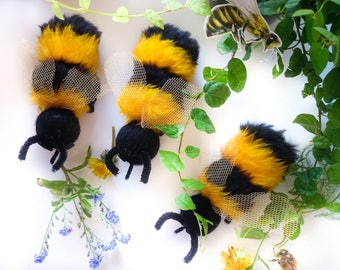 Bee, Save The Bees, Bee toys, Bee decor, Handmade, Toys, Stuffed Toys, Home decor, Bee decor, Insects, Made in Latvia