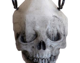 Emergent skull crystal pendant - white