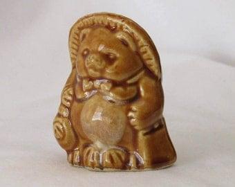 Vintage ceramic toothpick holder shaped as bear - Toothpick holder - Vintage Toothpick holder - Ceramic toothpick holder - Toothpick case