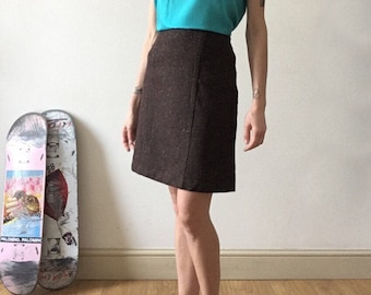 Brown Skirt / Casual / Smart / Wool and Polyester