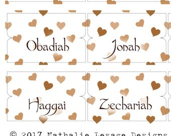 Bible Tabs Bible Journaling Tabs Journal Tabs Bible Tabs Download Bible Accessories Neutral Mocha Brown Hearts Old New Testament 2017BT1
