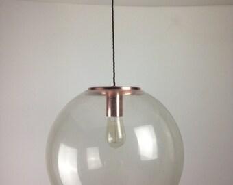 RARE Marlin / Elkamet Vintage Large Acrylic Globe Light