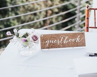 Guestbook Sign, Guest Book Sign, Wedding Guestbook sign, wood guestbook,  Please sign our guestbook, Wooden Wedding Signs - Wood