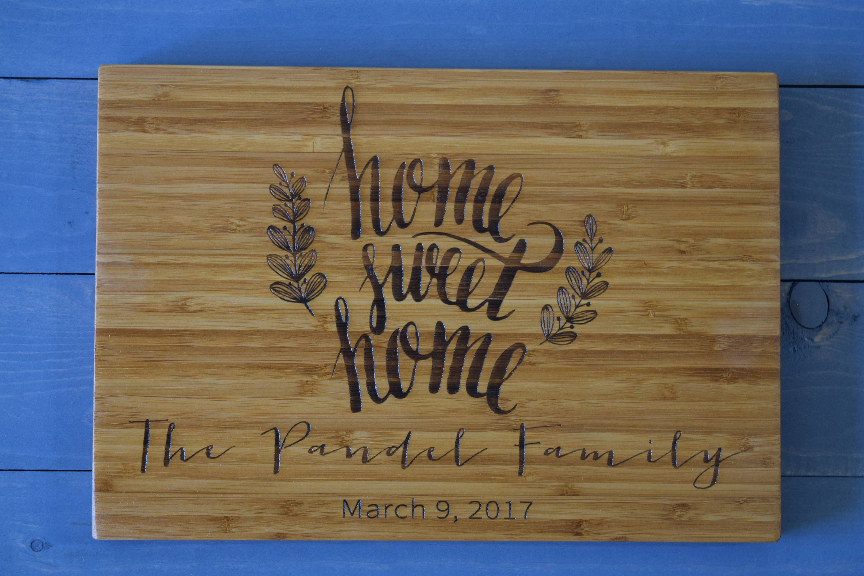 Housewarming Gift, Closing Gift, Home Sweet Home, Personalized Cutting Board, First Home Gift, House Warming Gift, Wedding Gift