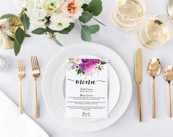 Wedding menus, printable wedding menus, wedding menu, roses wedding menu, wedding menu cards, printable menu cards, wedding menu card