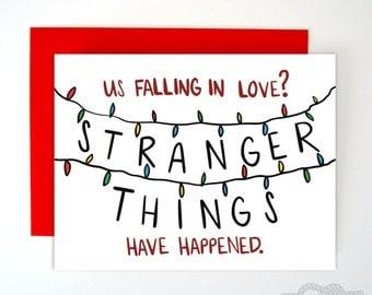 Funny Stranger Things Card, Birthday Card, Boyfriend Card, Valentines Day Card, Funny Valentine, Love Card, Boyfriend Gift, Husband Card