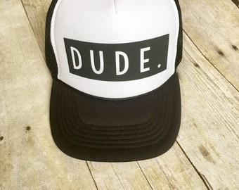 Kids dude trucker hat
