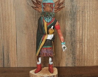 native american,native,native american art,navajo kachina,native american kachina,kachina,Crow Mother, Native American Crow Mother Kachina