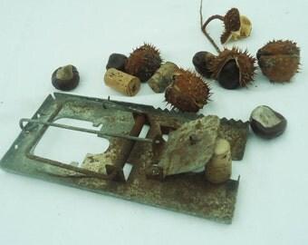 Antique Mouse Trap/Primitive Rustic Metal Mouse Trap/ Rat Trap/Old Metal Mouse Trap/ Primitive Tool/ Rustic Decor/ Collectable