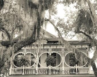 Savannah Georgia Photography, Gingerbread House,  Metallic Print, Savannah Architecture, Travel Print, Savannah Fine Art Photography