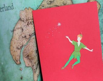 Peter Pan : Fantasy PaperScapes, Handmade, Disney, Peter Pan, Framed Papercut Art