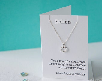 True friends heart necklace