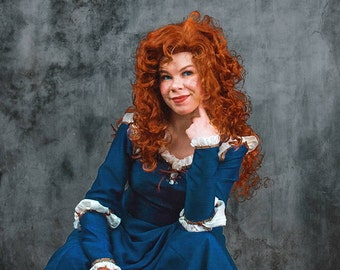 Merida Wig Long Orange Wavy