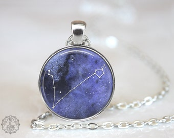Pisces Constellation Pendant Necklace | Pisces Necklace Zodiac Necklace Constellation Jewelry Galaxy Necklace Space Star Astrology Horoscope