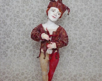 OOAK Art Doll Heart of a clown