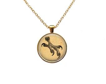 Eagle necklace Bird pendant Vintage jewelry