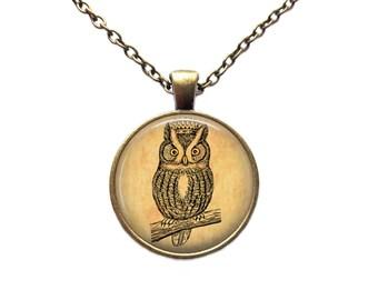 Bird pendant Royal jewelry Owl necklace