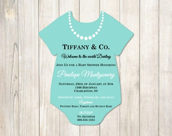 Tiffany's Baby Shower Invitation - Tiffany Baby Shower