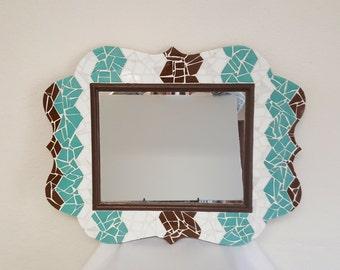 Turquoise Wall Mirror mosaic wall mirror | etsy
