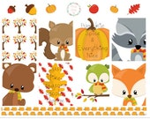 Fall Animals Planner Stickers