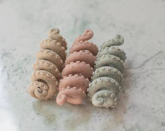 "Beads for dreadlocks ""Stone tentacles"""