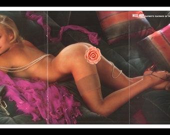 "Mature Playboy May 1981 : Playmate Centerfold Gina Goldberg Gatefold 3 Page Spread Photo Wall Art Decor 11"" x 23"""