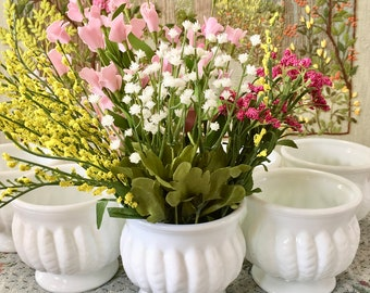 milk glass vase milk glass bowl wedding centerpiece vases for wedding vases planter pot white vases