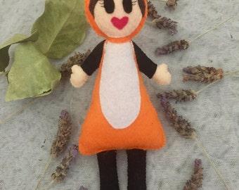 Freya Fox Felt Doll