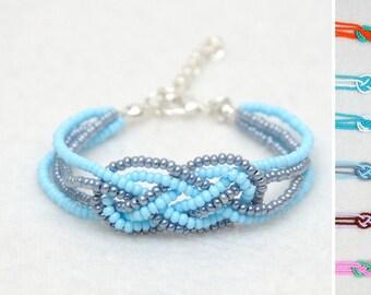 Knot Bracelet Sailor Knot bracelet Seed bead bracelet Infinity Jewelry Knotted Jewelry Celtic Knot Bracelet Friend Gifts sister Gift for Her