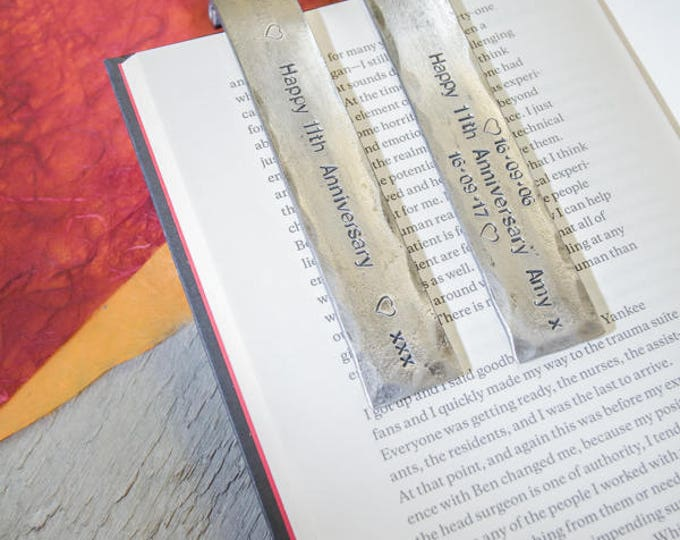 6th ANNIVERSARY BOOKMARK//personalised iron Bookmark//6 years keepsake//iron gift for husband//gift for wife//book lovers gift//books