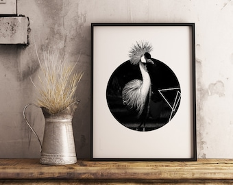 Apartment Decor, Black and White print Art, Wall art,Animal wall art, home decor,Office decor, Printable art, geometric animals, print gift