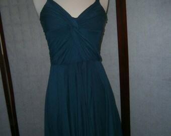 Women's Teal Blue Jersey Sundress