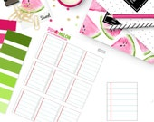 School Lined Notebook Paper Box  | 9 Die-Cut Stickers| Perfect for Erin Condren, Mambi Happy Planner, Personal, TN, Pocket Planners | BX035