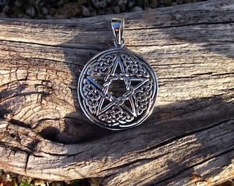 Sterling Silver Celtic Pentagram Pendant - #311