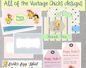 LAST MINUTE SALE! Combo of all the Vintage Chick printable designs