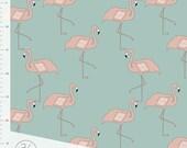 Flamingo Elvelyckan Designs Gots Certified Cotton Jersey in Dusty Mint  **UK seller**