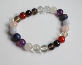 Gemstone Chakra Balancing Bracelet for New Endeavors/Healing Crystal Reiki Jewelry
