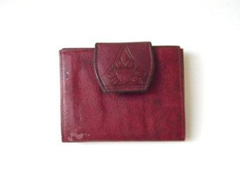 Retro Oxblood Leather Rolfs Wallet