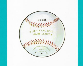 Vintage Baseball Print // Old School Baseball Sports Print // Baseball Major League Ball Print // Baseball League Fun