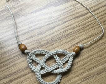 Hemp Celtic Knot Necklace