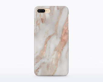 Marble iPhone Case Rose Gold Marble Phone Case iPhone 6 Case Marble iPhone 7 Marble Case iPhone SE Case Marble Matte Case iPhone Case CM94