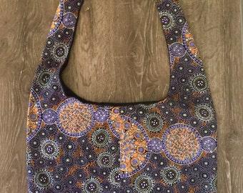 shoulder bag / nappy bag / boho bag / hippy bag / cross body bag / messenger bag / australian bag in aboriginal fabric