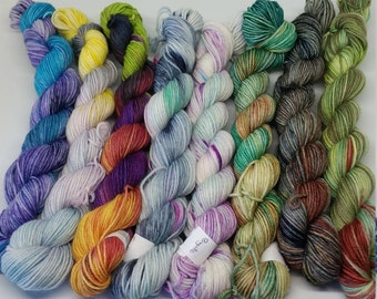Mini sets - Platinum Sock Yarn - Superwash Merino + Nylon - 75/25 - Ready to Ship