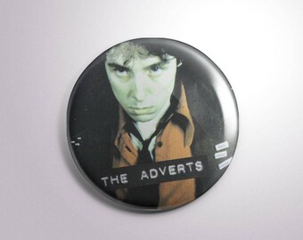 """The Adverts 2.25"""" button"""