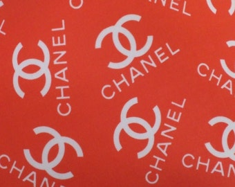 Chanel Inspired Designer Print Spandex Fabric By The Yard